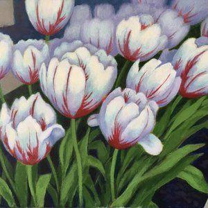 "Tulips Painting, 12""x14"""